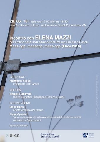 A Fabriano, Elena Mazzi, vincitrice del Premio Ermanno Casoli 2018