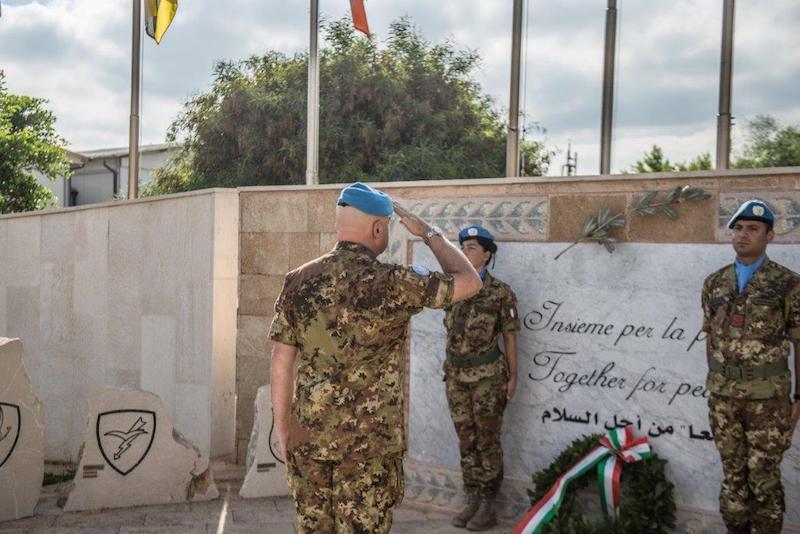 Libano: celebrato in Libano il XXV Anniversario della morte del S.TEN. (M.O.V.M.) Andrea Millevoi